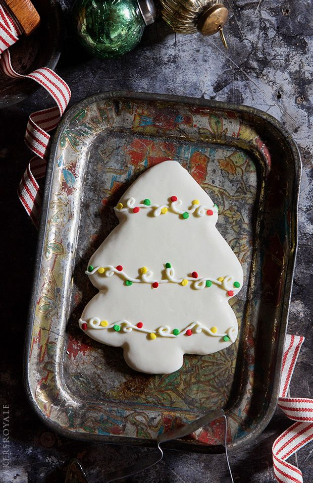 Decorated Christmas Tree Cookies via Bakers Royale