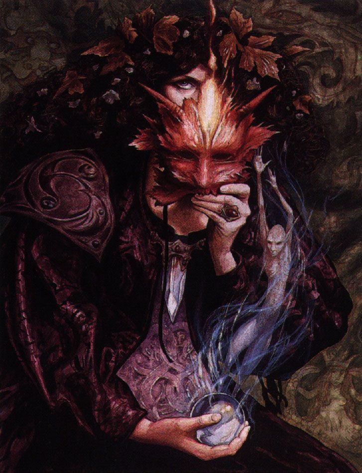 The Faerie Queen by Brian Froud - 1994  Cover from The Wild Wood by Charles De Lint