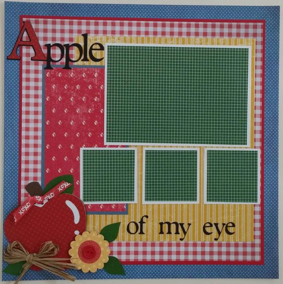 Apple of my eye Fall School Orchard premade by ohioscrapper, $15.00