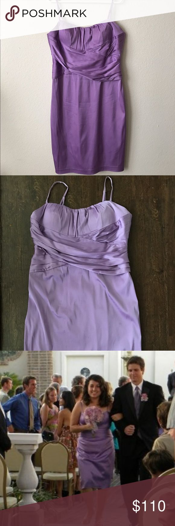 Lavender cocktail dress Beautiful lavender dress, great for weddings and cocktail parties. Definitely brings out your feminine side. I have only worn it once for a wedding. :) Dresses Wedding