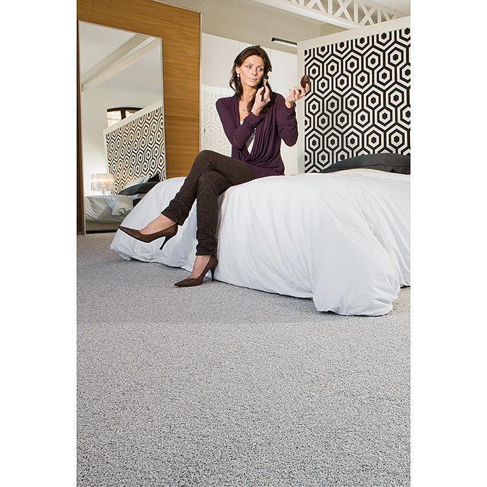 Teppichboden Meterware Pia Breite 500 Cm 100 Polypropylen Grau Teppichboden Teppich Teppich Flur