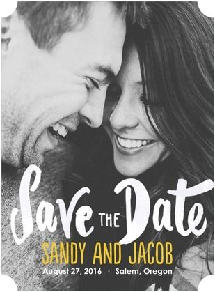 Show off the genuine love you and your fiancee share in your simple Save the Dates. | www.WeddingPaperDivas.com
