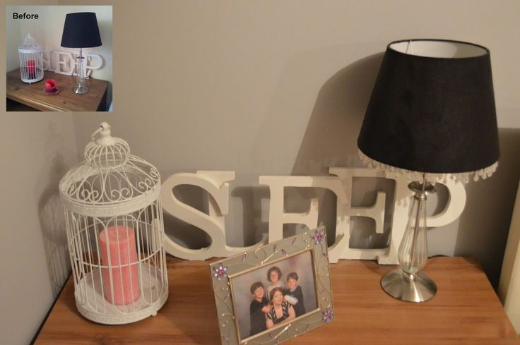 HAYLES@HOME: Bedroom Makeover - Pt 1 - Bedside Table Styling and DIY