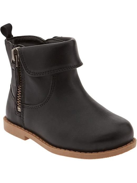 Faux-Leather Boots for Baby