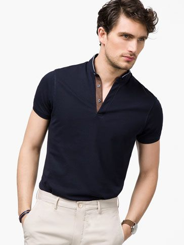 MANDARIN-COLLAR POLO SHIRT - View all - Polos - MEN - Malaysia