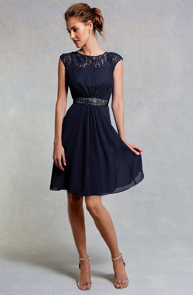 Coast Bridesmaid Navy Lori Lee Short Dress