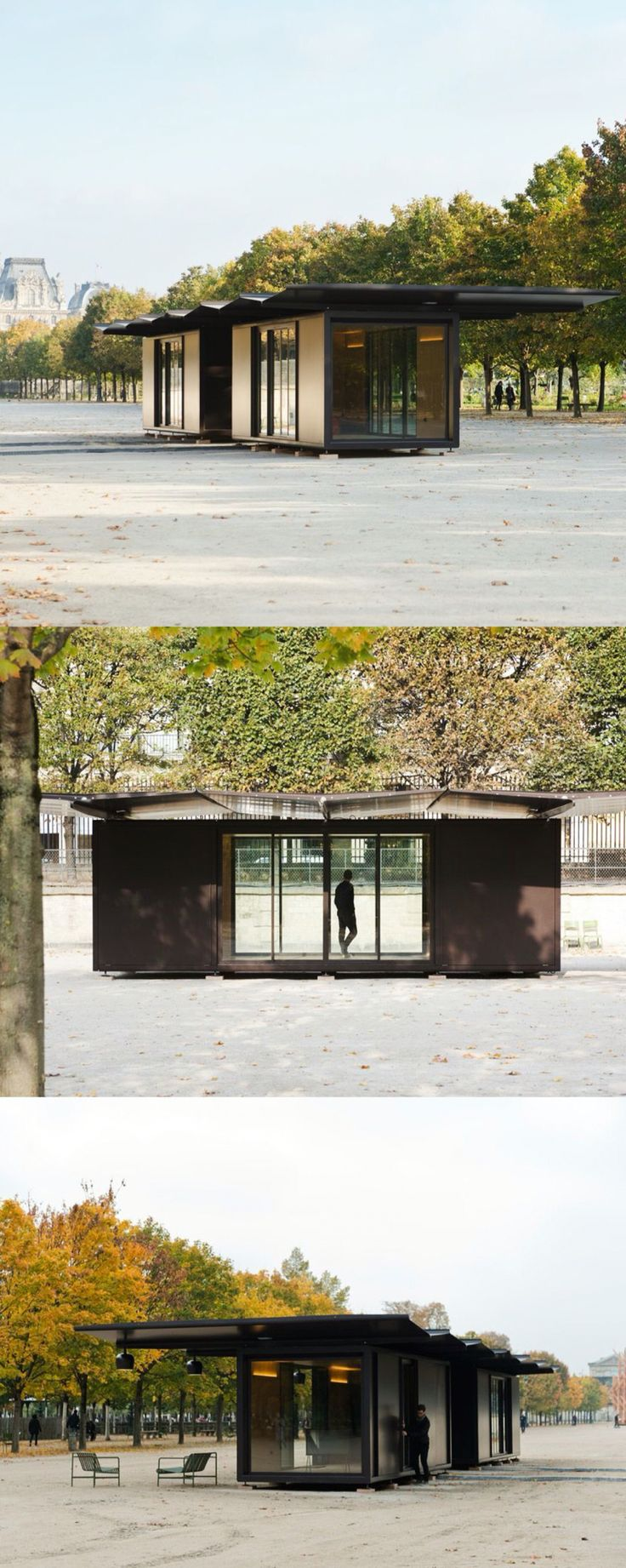 kiosque installation at the jardin des tuileries by ronan and erwan bouroullec pavilion