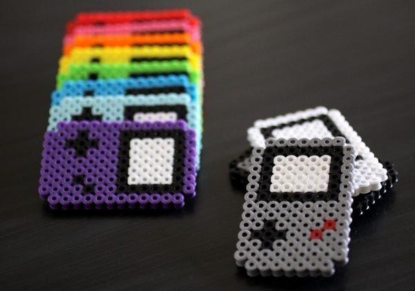 Perler Beads GameBoy Fridge Magnets