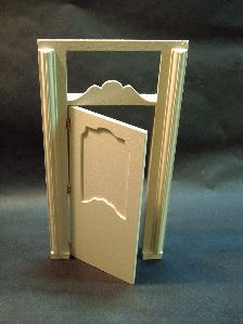 Tutorial, miniature dollhouse door