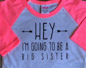 Meisjes grote sis outfit grote zus shirt zusje door WillowBeeApparel