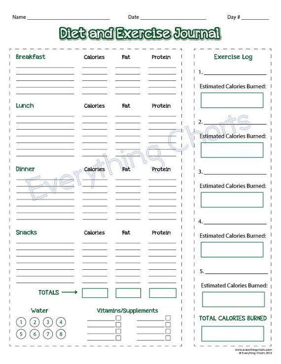 printable diet logs