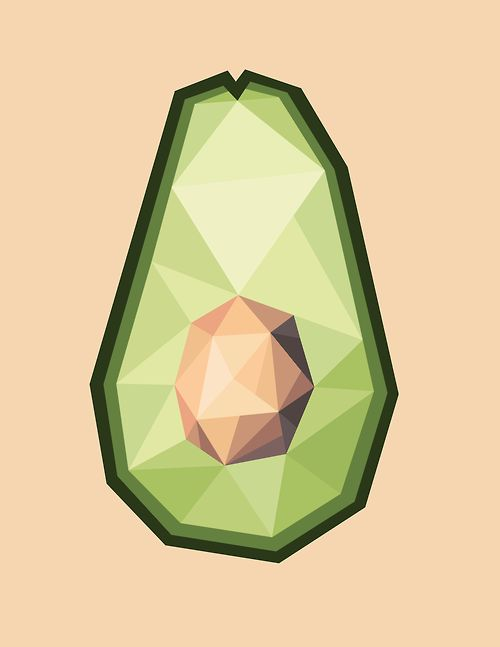 I really like this styled avocado because it's with geometric forms which is different from the standard avocado shape since it's considered organic