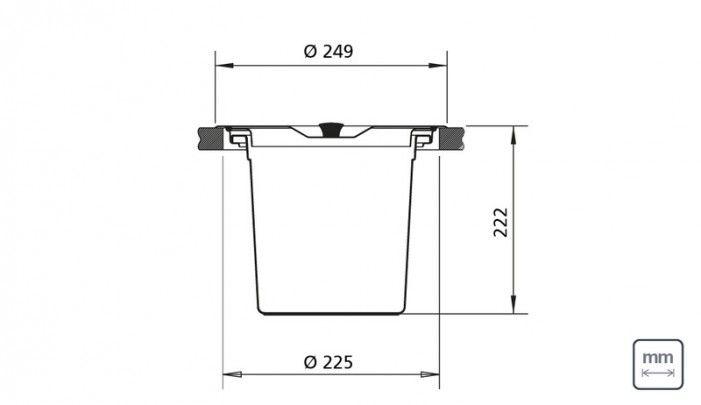 Lixeira de embutir com 5 litros - 94518005 : Utilidades Gerais para o Lar - Lixeiras | Tramontina