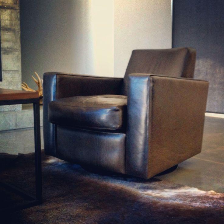 Classic Architect Chair in Slate leather. Ed Cruikshank 2014