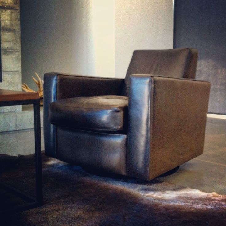 Classic Architect Chair in Slate leather. Ed Cruikshank 2014