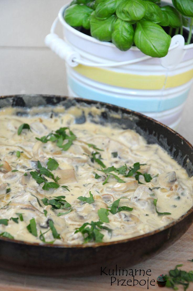 Sos pieczarkowy, sos pieczarkowo-śmietanowy, sos grzybowy, sos pieczarkowy ze śmietaną, pyszny sos pieczarkowy do makaronów