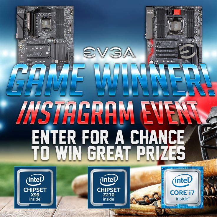 Enter @TeamEVGA's Game Winner Instagram Event to win great prizes from @TEAMEVGA & @INTELGAMING!