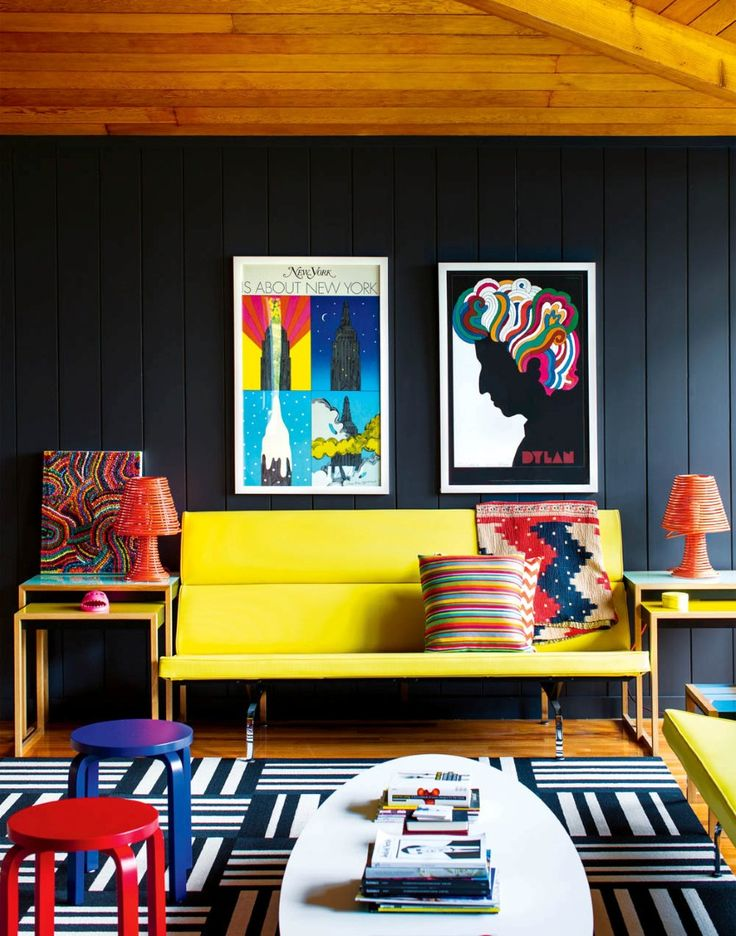 Fresco of Optimize the Energy in Your Interior with Yellow Couch