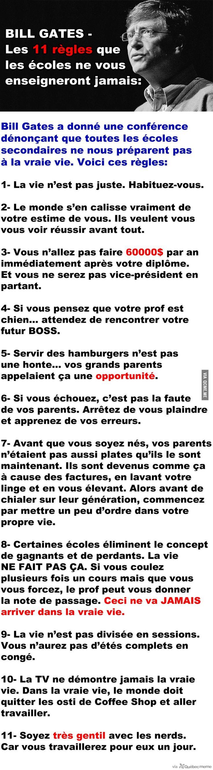 Règles de Bill Gates – Québec Meme +
