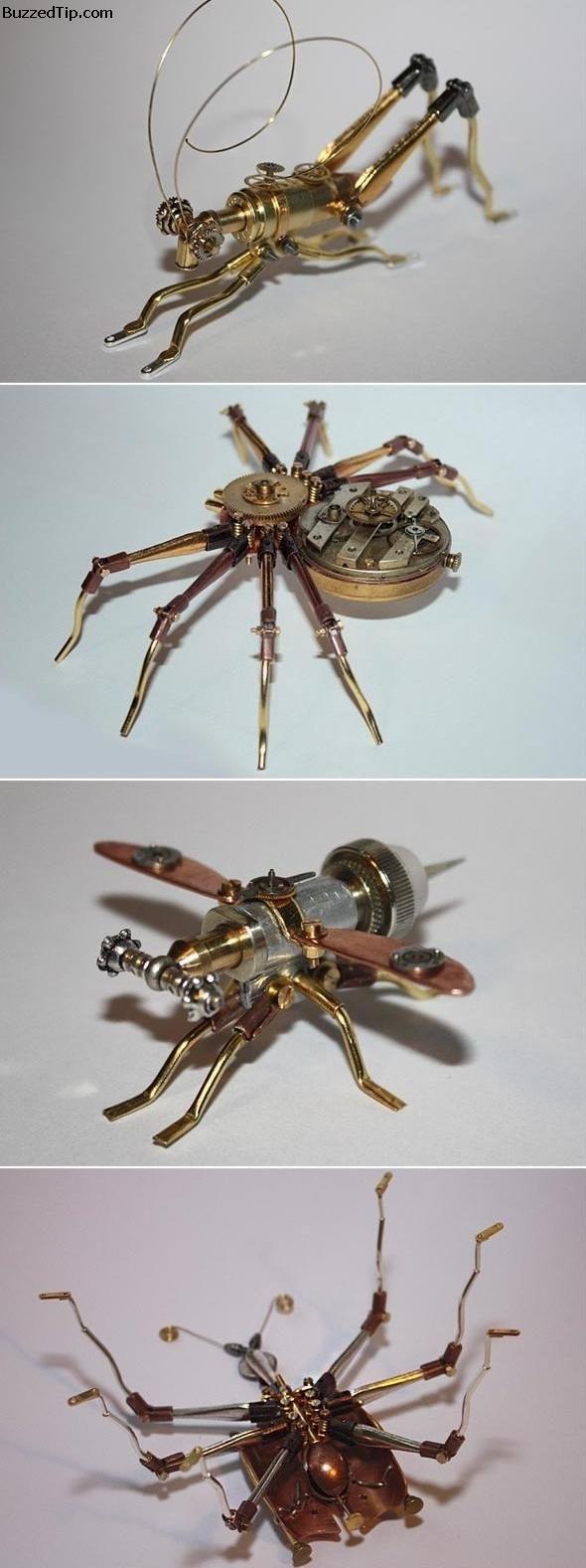 Steampunk bugs.... so cool!