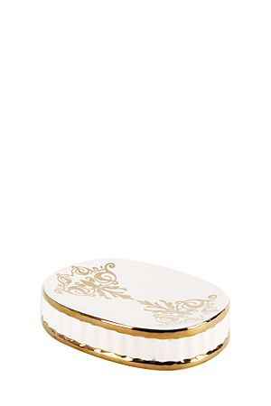 """This classical inspired soap dish with an intricate design will suit a luxurious bathroom setting. Also available in a dispenser and a tumbler.<div class=""""pdpDescContent""""><BR /><b class=""""pdpDesc"""">Dimensions:</b><BR />L13.5xW10xH3 cm</div>"""