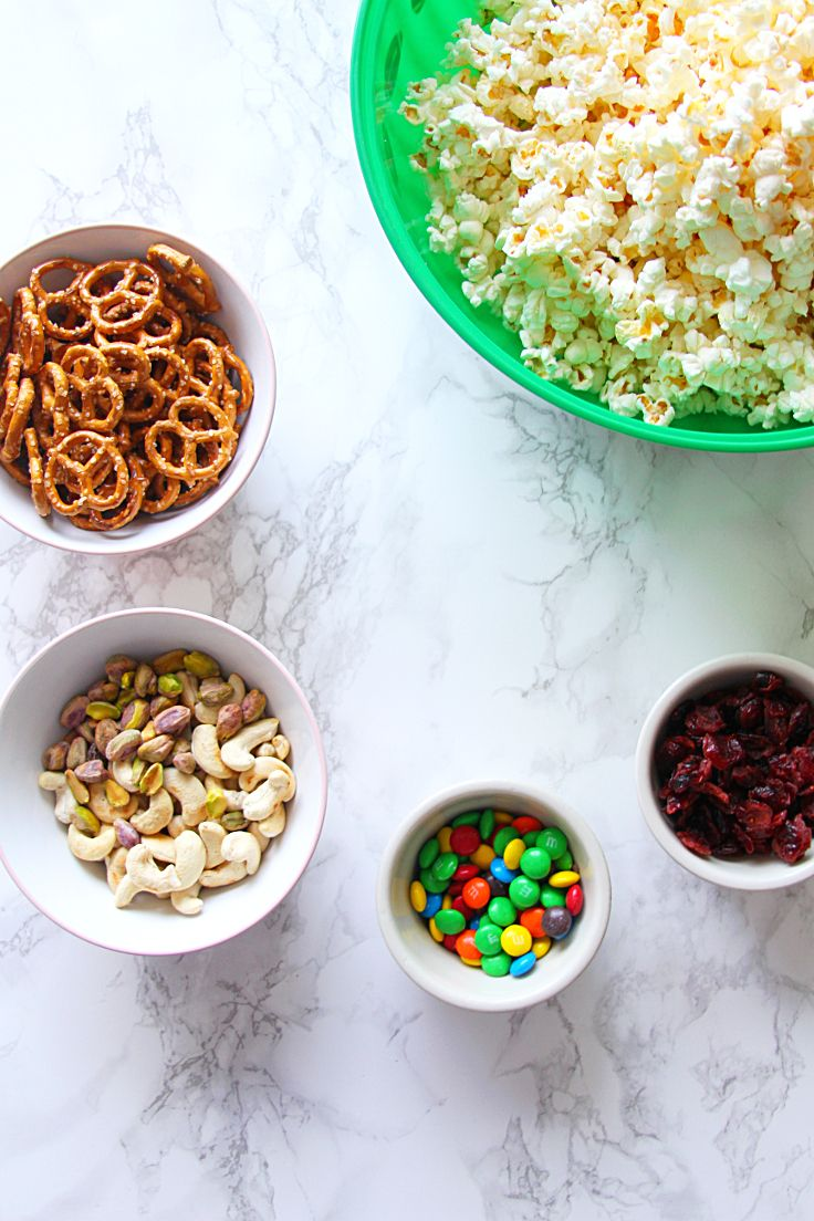 Popcorn Trail Mix After-School Snack