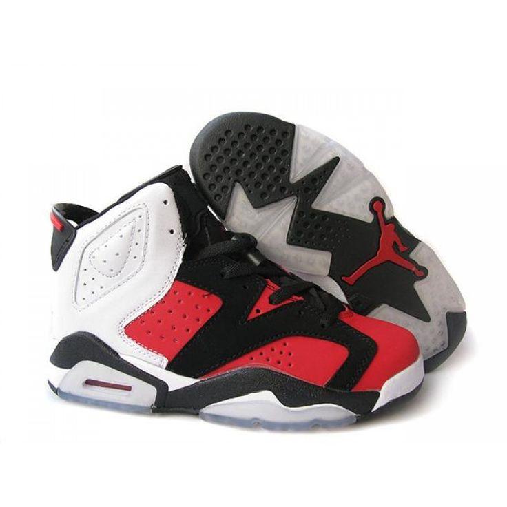 Womens Air Jordan 6 Retro Red Black White , Jordan Shoes,Air Jordan,Air