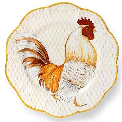 Alberto Pinto Plumes Set Of Six Dinner Plates. Rooster PlatesRooster  KitchenRooster ...