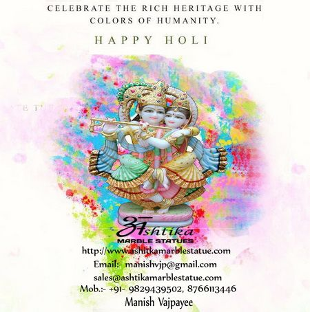 May god spray colours of success,prosperity and logitivity over you n ur family, & fill ur each moment with love and happiness happy holi.Regards...Manish Vajpayee