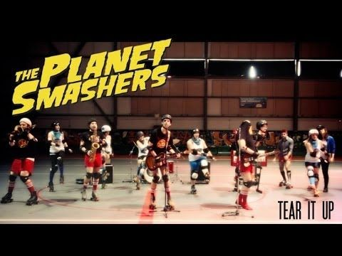 """New hilarious Planet Smashers video for """"Tear It Up"""" off the new album Mixed Messages out now featuring The Montreal Roller Derby!"""