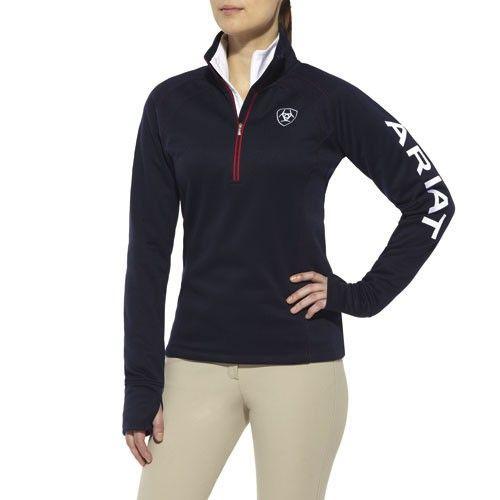 NEW! 10011282 Ariat Womens Tek Team Quarter Zip Fleece Jacket - Navy Jacket I WANT THIS JACKET