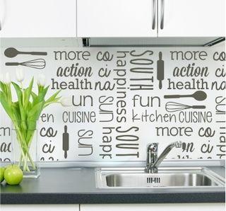 Vinilo decorativo cocina decoración palabras frases