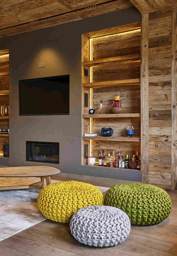 Интерьер квартиры в стиле шале во Франции