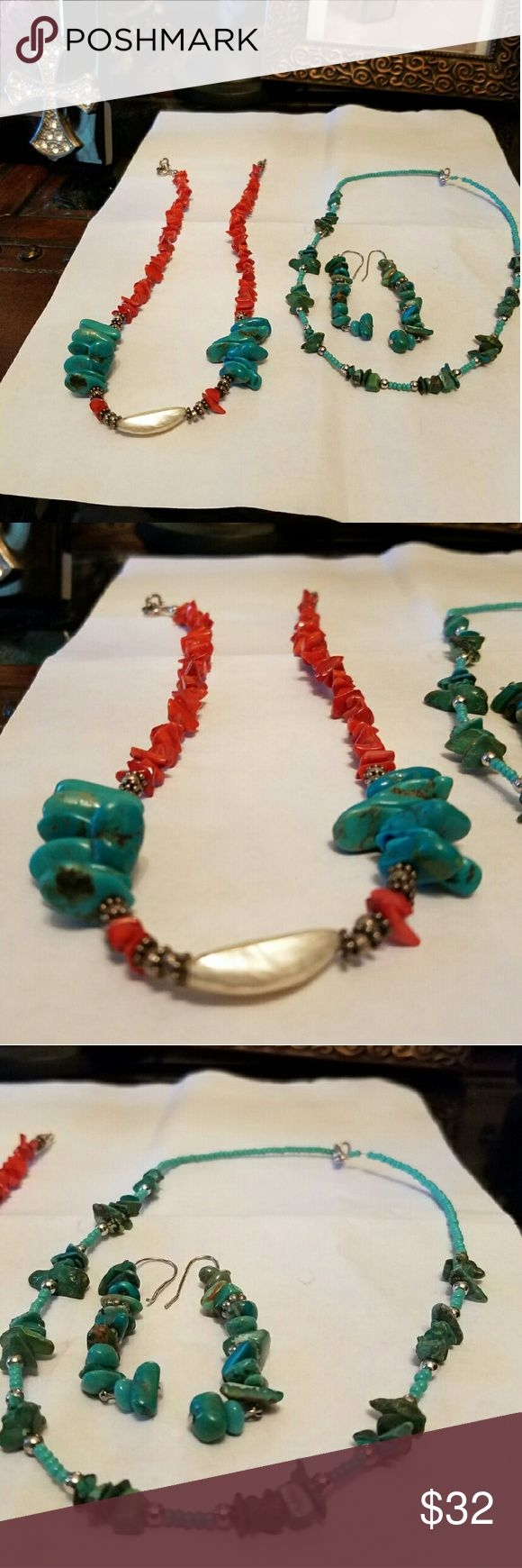 Pandora bracelet dillards - Barse Base And Turquoise Necklace W Earrings Barse Jewelrymother Pearl Dillardsturquoise