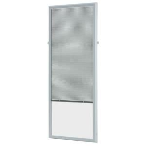22 in. w x 64 in. h Add-On Enclosed Aluminum Blinds White Steel & Fiberglass Doors with Raised Frame Around Glass