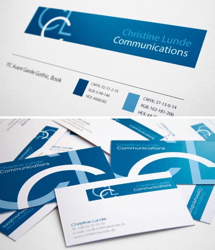 Visuel identity for 'Christine Lunde Communications'