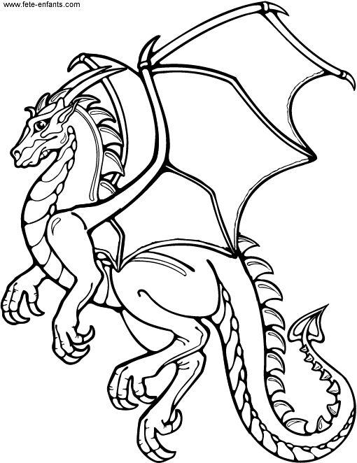 Coloriage Dragon à colorier - Dessin à imprimer