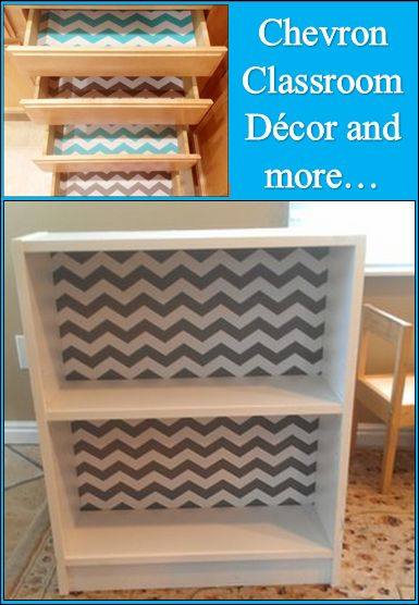Chevron Classroom Decor Ideas with free Chevron themed printables #classroom