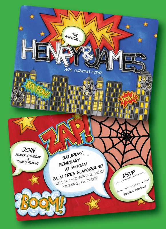lori monahan borden design llc - New Ideas!  invite spider man superhero invite party birthday