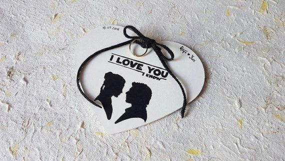 Star wars wedding: Personalized ring holder Princess Leia