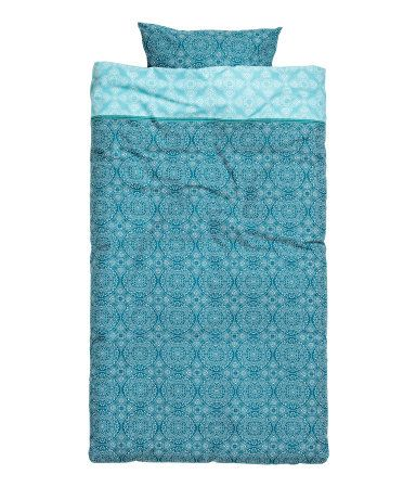 Patterned Duvet Cover Set | Teal | Home | H&M US