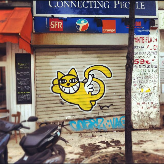 more smiling cats by Monsieur Chat, Paris