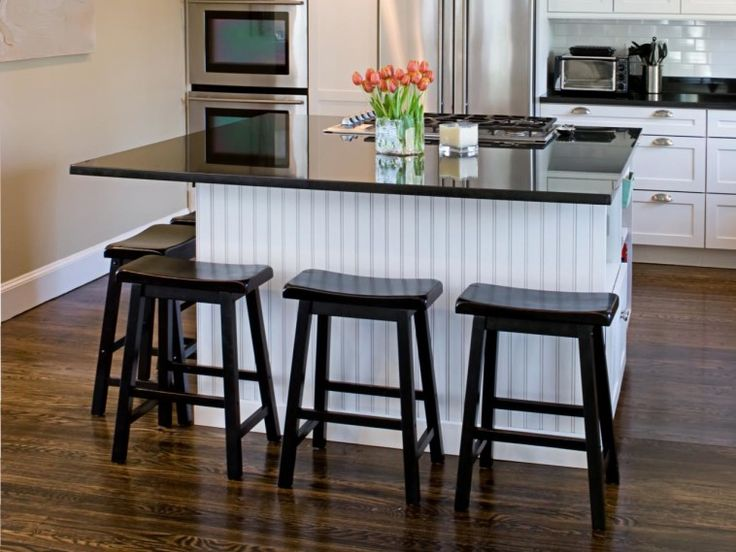 white beadboard kitchen table mixed black painted wooden bar stools with kitchen island ta on kitchen island id=19301