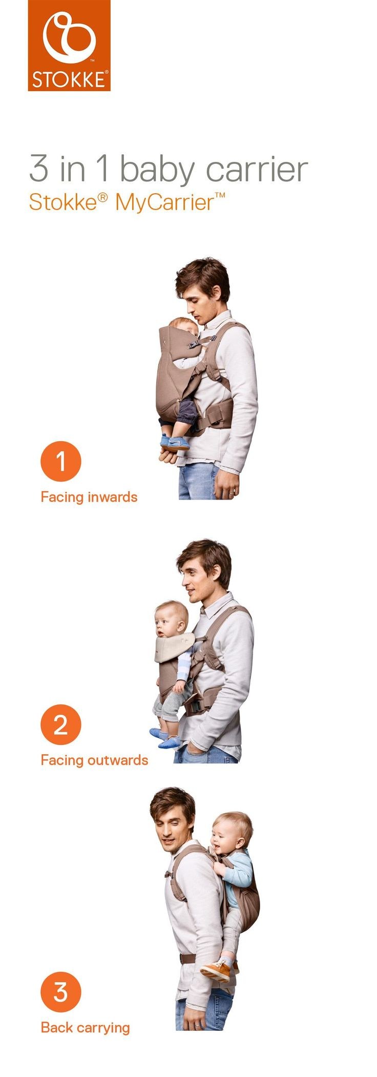 3-in-1 ergonomic baby carrier for your newborn, child or toddler –Stokke MyCarrier