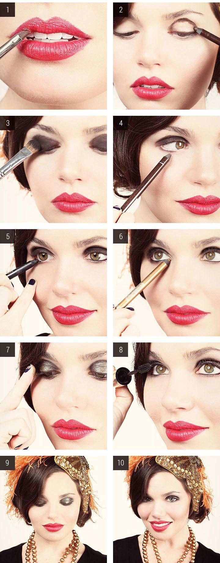 Tutorial para maquillaje de los años 20's ¡puro glamour!