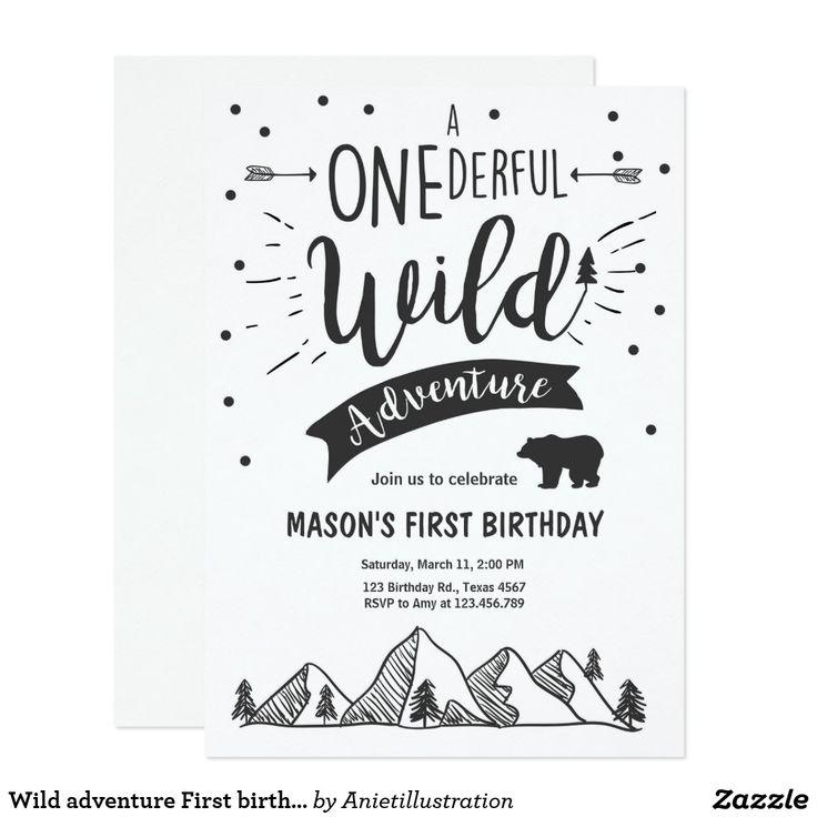 222 best Birthday: 1st B-day Invites images on Pinterest   Invites ...
