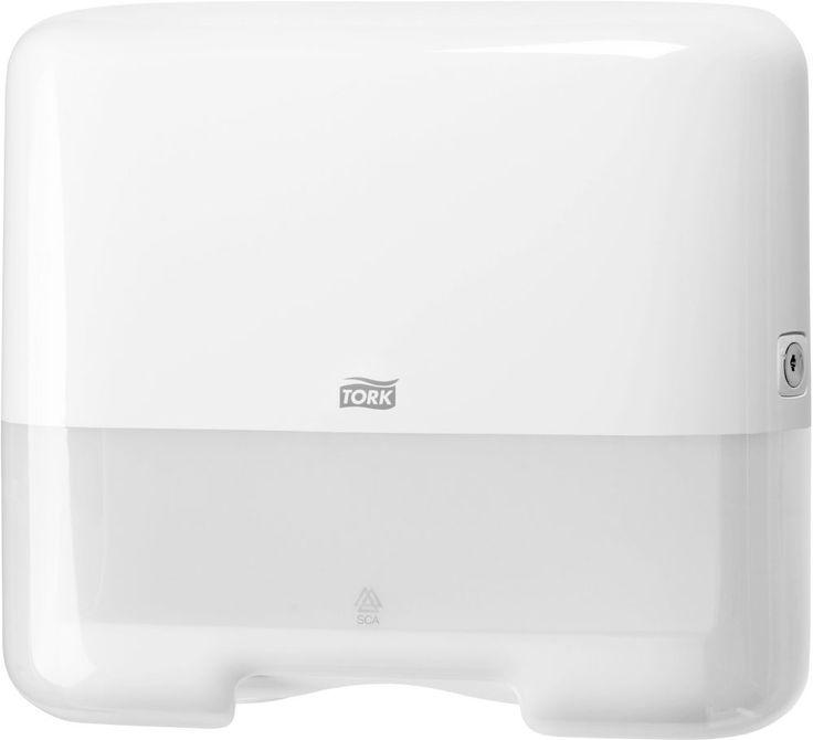 Dozator Tork mini pentru prosoape pliate de mana ZZ si C, pentru toaletele publice mici.