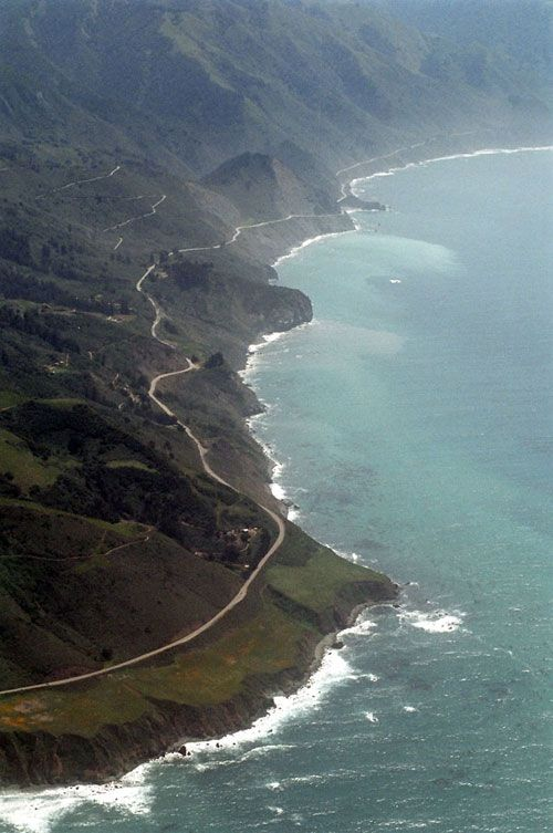 Highway 1 --Big Sur, California. Been there, driven that. In the dark. In a strange car.