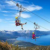 BLUE STREAK ZIP LINE  Enjoy incredible views of Lake Tahoe as you glide through the sky on Heavenly's 3,300-foot-long zip line. With top spe...