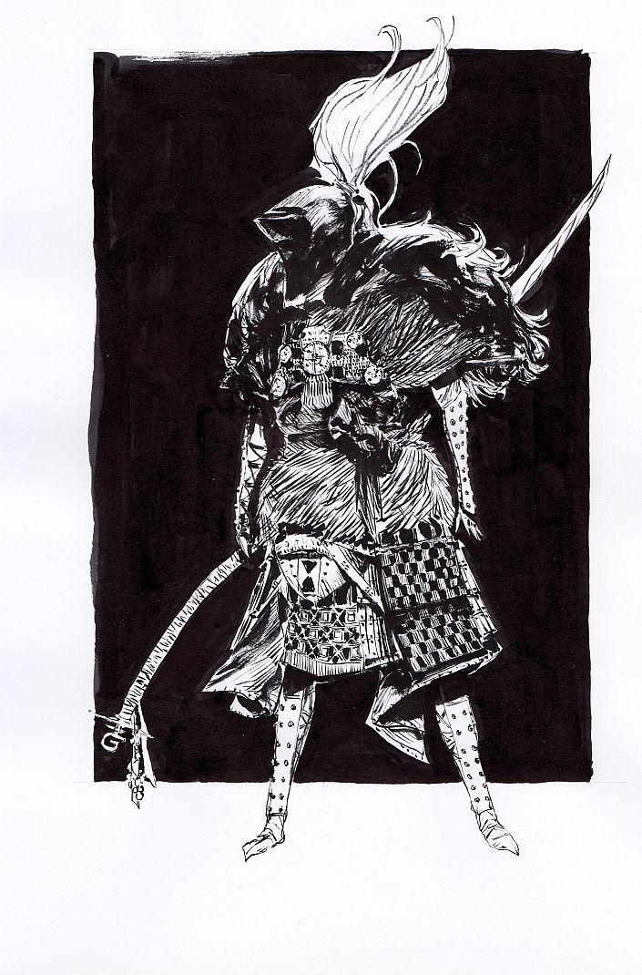 Daniel P. Dwyer: Admiral. Tusche auf Papier #Tusche auf Papier  #comic #Charakterdesign #Japan #martialart #fiction #Kostüm #costume #Tusche #Zeichnung #danieldwyer #startyourart www.startyourart.de